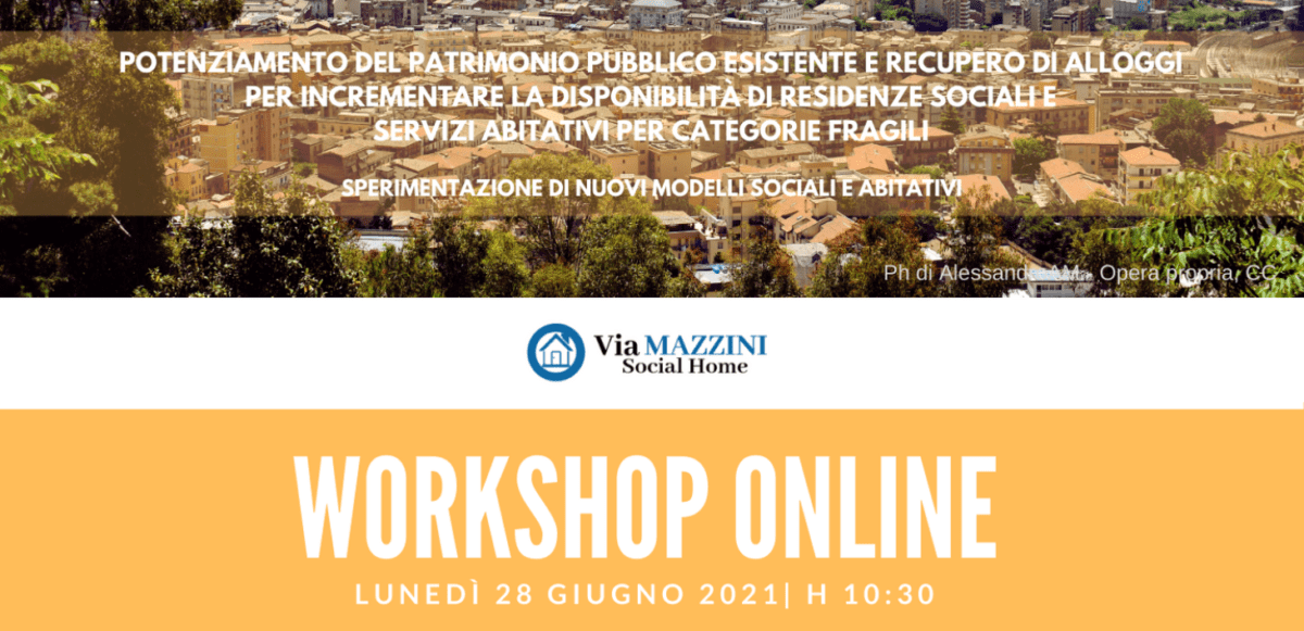 Workshop on line il 28 giugno sui lavori nei rioni Stazzone e Provvidenza -