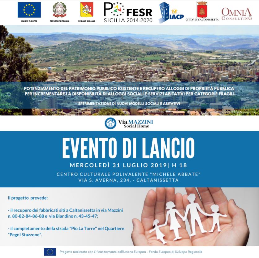 LocWeb - Evento di lancio Via Mazzini Social Home - Caltanissetta - 31 luglio 2019